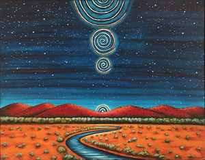 Spiraling River Path by Jane Cassidy